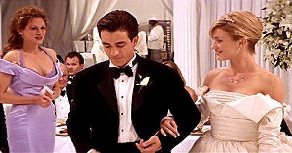 <p>I get that we're all supposed to root for Julia Roberts in this movie, but TBH, Cameron Diaz's fun, structural gown kinda had me hoping she'd end up with the dream guy....</p>