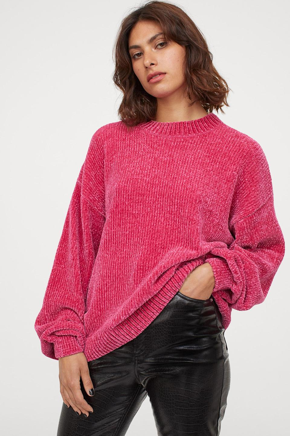<p>This <span>H&M Chenille Sweater</span> ($30) is incredibly soft.</p>