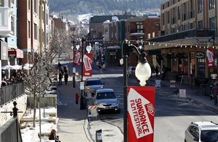 Main Street is pictured during the Sundance Film Festival in Park City