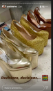 """<p>The actor displayed her shoe options to accessorise her lime green Maison Valentino gown.. <a href=""""https://www.elle.com/uk/fashion/g25746956/golden-globes-best-red-carpet-looks/?slide=2"""" rel=""""nofollow noopener"""" target=""""_blank"""" data-ylk=""""slk:see what she picked here."""" class=""""link rapid-noclick-resp"""">see what she picked here.</a></p>"""