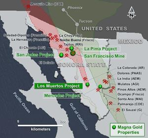 Project location within the Sonora Mojave Mega Shear