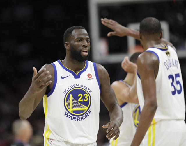 Draymond Green heard about Kevin Durant's move to the Nets just as everyone else did. (AP Photo/Tony Dejak)