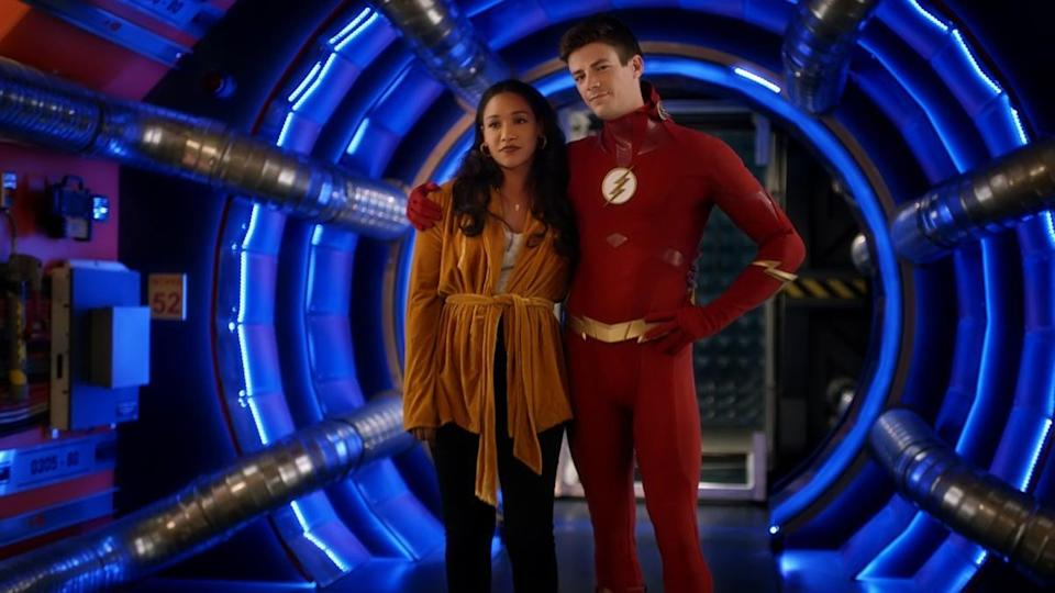 <p><strong>For Barry:</strong> The classic Flash costume.</p> <p><strong>For Iris:</strong> Anything stylish, honestly!</p>