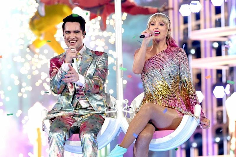 Brendon Urie and Taylor Swift | Kevin Winter/Getty