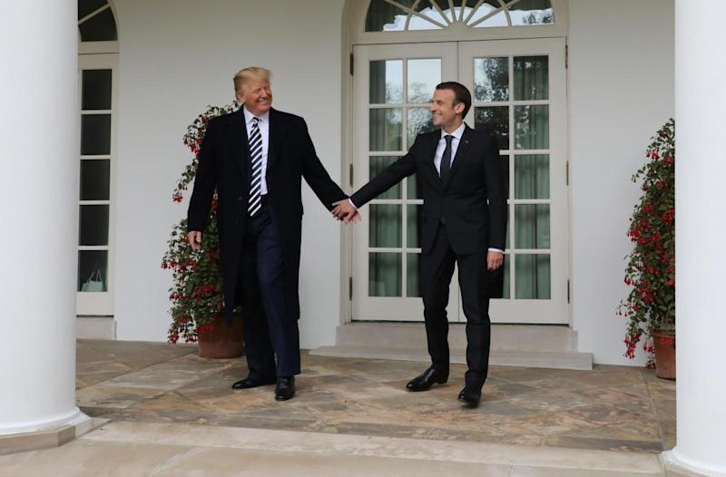 Emmanuel Macron visited Donald Trump at the White House in April 2018 (AFP/Getty Images)