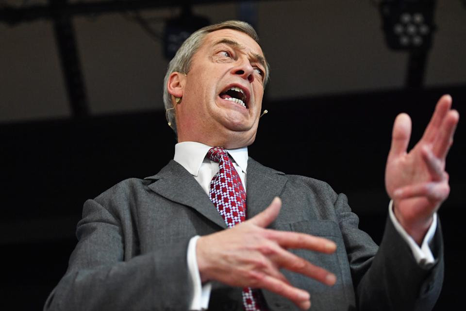 Try as they might - and many did - there was no keeping Nigel Farage out of the news in 2019. He led the newly formed Brexit Party to European elections success, only to see its poll ratings plummet in the winter ahead of the general election (Picture: PA)
