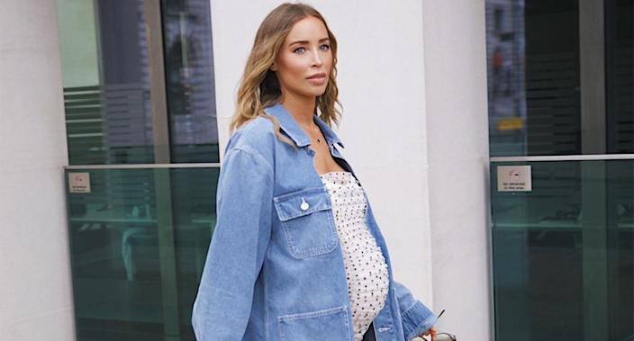 Former TOWIE star Lauren Pope has given birth to her first child. (Supplied)