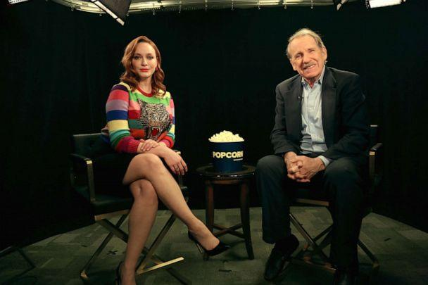 PHOTO: Christina Hendricks appears on 'Popcorn with Peter Travers' at ABC News studios, February 14, 2020, in New York City. (Angela Williams/ABC News)