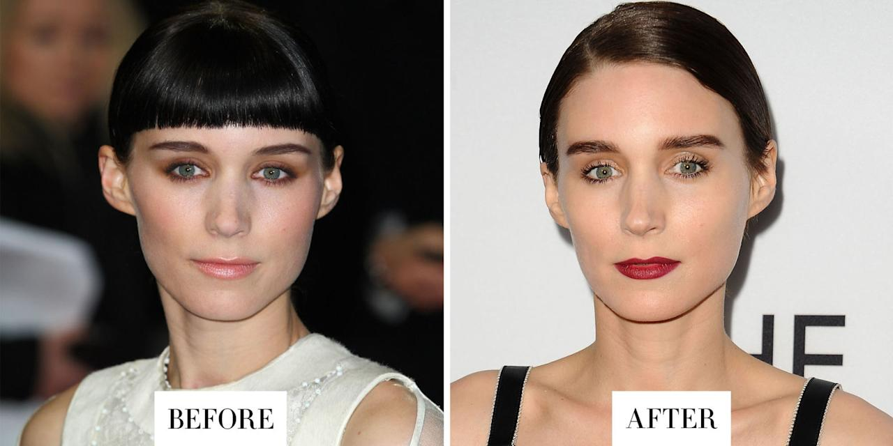 <p>Mara's nearly-black and lightly arched brows are now much fuller and straighter. </p>