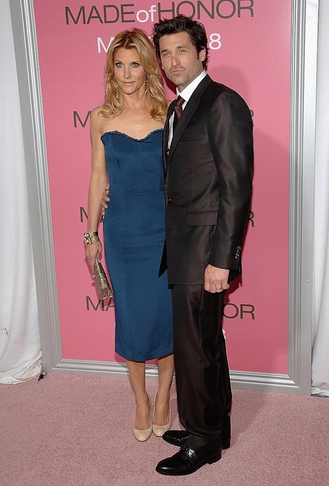"""Jillian Dempsey and <a href=""""http://movies.yahoo.com/movie/contributor/1800043749"""">Patrick Dempsey</a> at the New York City premiere of <a href=""""http://movies.yahoo.com/movie/1809878258/info"""">Made of Honor</a> - 04/28/2008"""