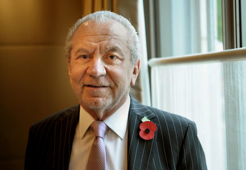 Lord Alan Sugar attends a tribute lunch for Graham Norton hosted by The Lady Taverners at the Dorchester Hotel, London. (Photo by Anthony Devlin/PA Images via Getty Images)