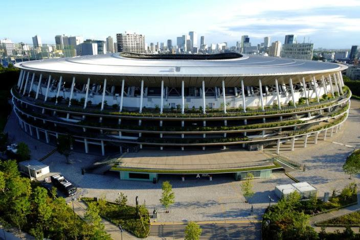 FILE PHOTO: A general view of the Olympic Stadium (National Stadium) in Tokyo