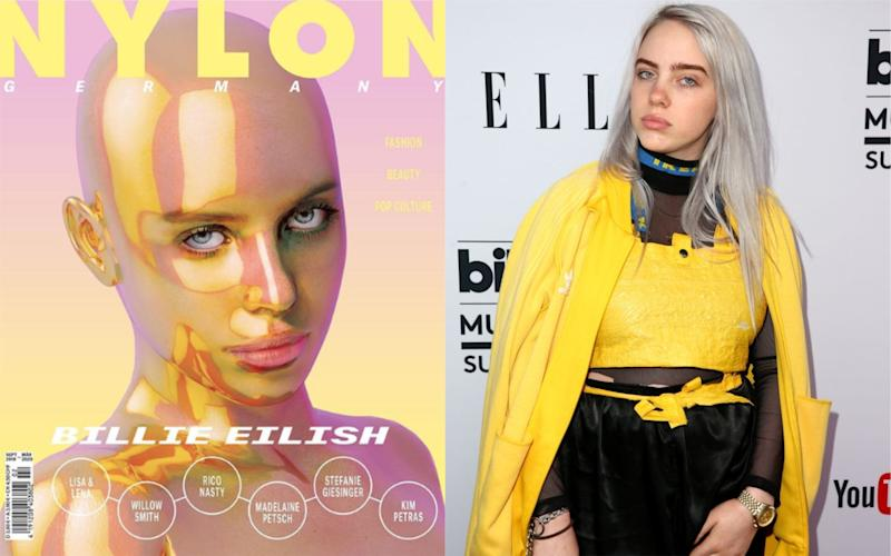 Billie Eilish called out the German publication for using an image of her without her consent [Photo: Instagram/Getty]