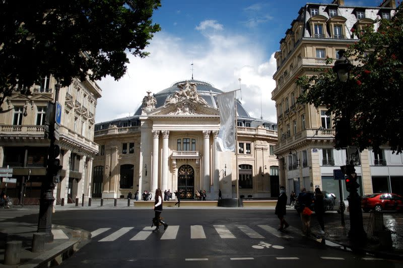 Outside view of the Bourse de Commerce - Pinault Collection in Paris