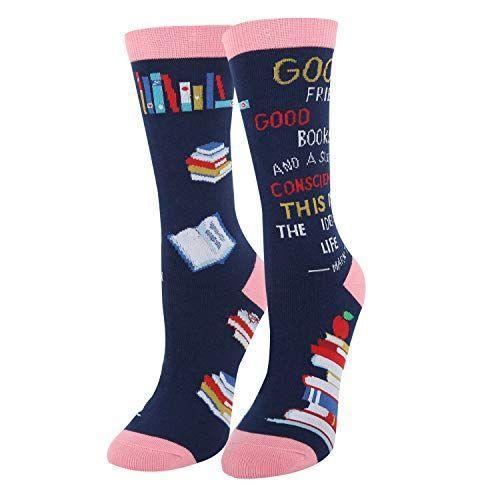"""<p><strong>sockfun</strong></p><p>amazon.com</p><p><strong>$8.00</strong></p><p><a href=""""https://www.amazon.com/dp/B07XJ5PYS1?tag=syn-yahoo-20&ascsubtag=%5Bartid%7C10049.g.32868849%5Bsrc%7Cyahoo-us"""" rel=""""nofollow noopener"""" target=""""_blank"""" data-ylk=""""slk:Shop Now"""" class=""""link rapid-noclick-resp"""">Shop Now</a></p><p>Those literature professors will appreciate unwrapping a pair of socks with a Mark Twain quote on them. Plus, you can't go wrong with something that's both adorable and comfy.</p>"""