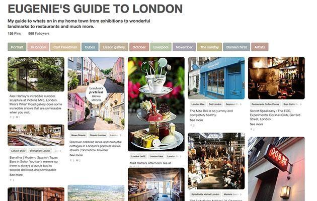 If you want the Princess treatment in London, look no further than Princess Eugenie's Pinterest account. Photo: https://uk.pinterest.com/HRHEugenieYork