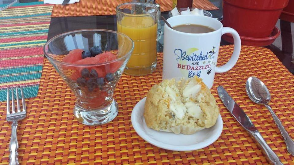 """<p><a href=""""https://www.tripadvisor.com/Hotel_Review-g34048-d525231-Reviews-Bewitched_BEDazzled_Bed_Breakfast-Rehoboth_Beach_Delaware.html"""" rel=""""nofollow noopener"""" target=""""_blank"""" data-ylk=""""slk:Bewitched & BEDazzled B&B"""" class=""""link rapid-noclick-resp"""">Bewitched & BEDazzled B&B</a> in Rehoboth Beach</p><p>""""The breakfasts are fantastic, and the afternoon snacks are homemade. This is not a chain hotel or restaurant. You don't order off a menu for your breakfast. However they do a fantastic job of dealing with dietary restrictions.<span class=""""redactor-invisible-space"""">"""" - Yelp user <a href=""""https://www.yelp.com/user_details?userid=thT3oIVY-QyPDkdeaYlhpA"""" rel=""""nofollow noopener"""" target=""""_blank"""" data-ylk=""""slk:Gary S."""" class=""""link rapid-noclick-resp"""">Gary S.</a></span></p>"""