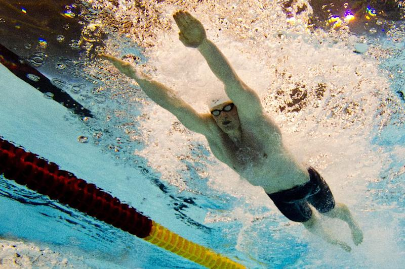 Great Britain's Adam Peaty competes in the 50m breststroke men final event at the 32nd LEN European swimming championships on August 23, 2014 in Berlin