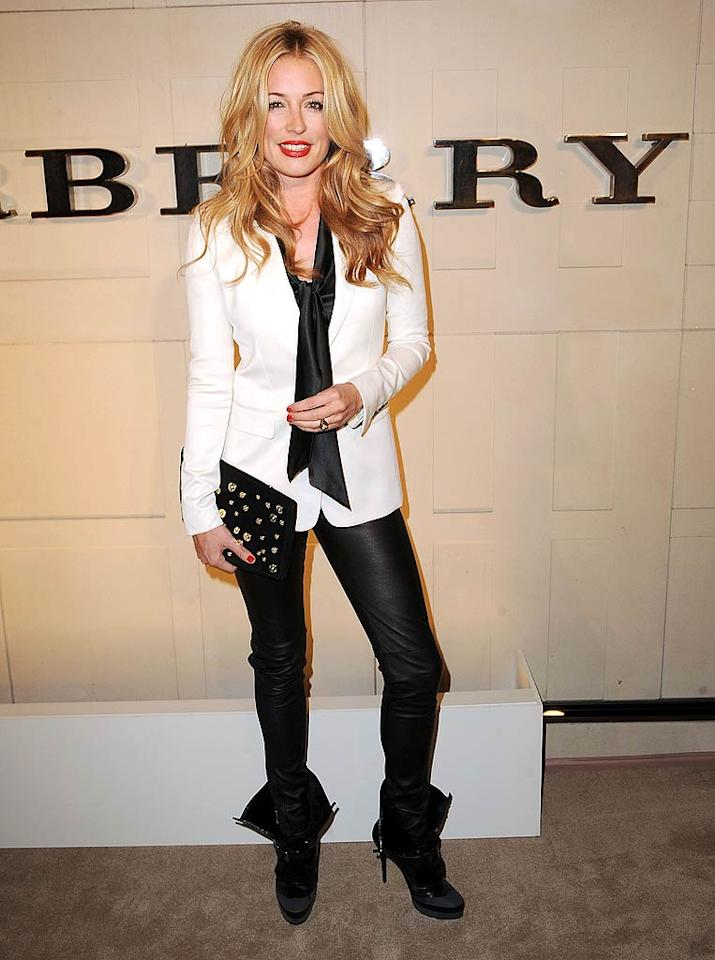 """So You Think You Can Dance"" host Cat Deeley showed off her signature tousled locks on the red carpet. ""@burberry And it could be expensive!!!!!"" Cat tweeted beforehand. No word on whether the British beauty went on a shopping spree during the party or not ..."