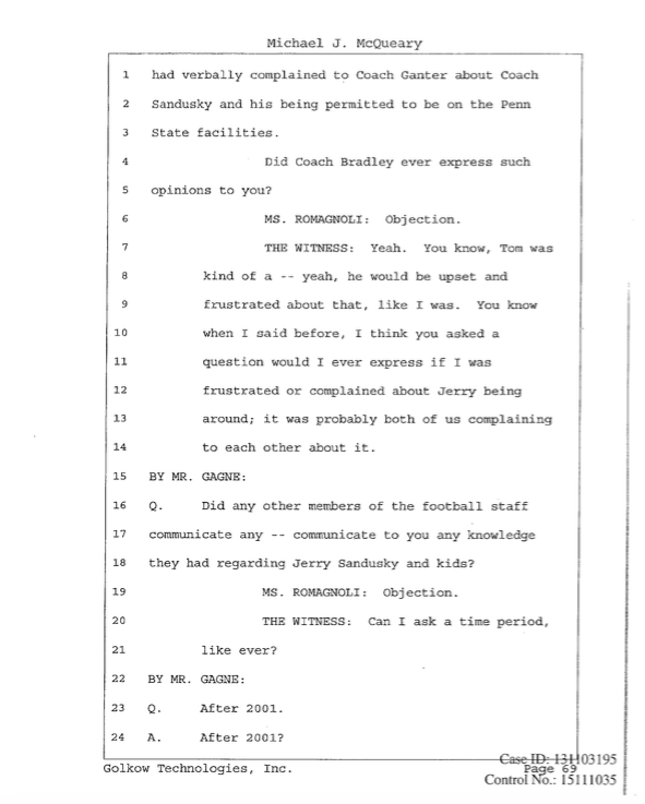 Mike McQueary testimony 4