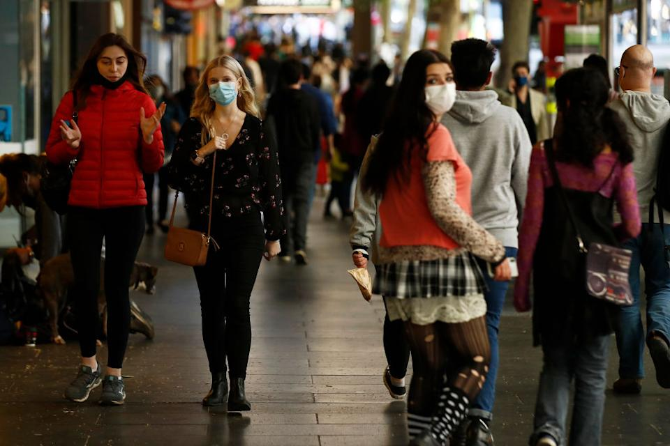 Australians would have to get used to the virus circulating in the community if borders reopned, Scott Morrison warned. Source: Getty
