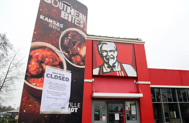 KFC first apologised for lack of chain's key ingredient on Saturday, blaming 'teething problems' with its supplier: PA