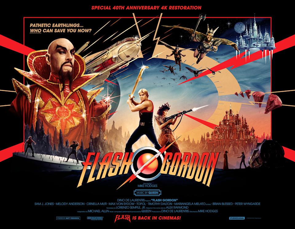 New artwork for the 4K remaster of Flash Gordon. (Studiocanal)