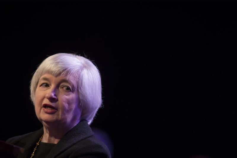 U.S. Federal Reserve chair Janet Yellen speaks to the Economic Club of New York in New York