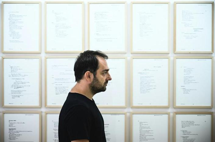 Miladinovic isn't surprised that his exhibit has drawn more attention abroad than at home, as he says it is trying to do the opposite of what Serbian society is seeking to do -- to forget
