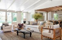 """<p>If you've ever visited one of designer <a href=""""https://www.housebeautiful.com/lifestyle/a31567759/designer-amber-lewis-reveals-multiple-sclerosis-diagnosis/"""" rel=""""nofollow noopener"""" target=""""_blank"""" data-ylk=""""slk:Amber Lewis"""" class=""""link rapid-noclick-resp"""">Amber Lewis</a>'s stores in the Los Angeles area, you probably left with more than you could carry. The store's mix of contemporary pieces and down-to-earth vintage makes it challenging to buy just<em> one </em>thing. And now, more of Amber Lewis' eclectic home pieces are on the market and we can't help but LOVE everything.</p><p>This week, Lewis's first ever design collaboration launched and it's with one of our favorite stores. <a href=""""https://go.redirectingat.com?id=74968X1596630&url=https%3A%2F%2Fwww.anthropologie.com%2Famber-lewis&sref=https%3A%2F%2Fwww.housebeautiful.com%2Fshopping%2Fg34130812%2Famber-lewis-anthropologie-collection%2F"""" rel=""""nofollow noopener"""" target=""""_blank"""" data-ylk=""""slk:Amber Lewis for Anthropologie"""" class=""""link rapid-noclick-resp"""">Amber Lewis for Anthropologie</a> features nearly 40 pieces for the living room, dining room and bedroom in her signature laid back California style. It's exclusive to Anthropologie stores and comes to us just a little over a month before Lewis' first book, <em>Made for Living</em>, hits shelves (you can preorder that <a href=""""https://www.amazon.com/Made-Living-Collected-Interiors-Styles/dp/1984823914"""" rel=""""nofollow noopener"""" target=""""_blank"""" data-ylk=""""slk:here"""" class=""""link rapid-noclick-resp""""><u>here</u></a>). </p><p>You'll find accent chairs, coffee tables, rugs, kitchen utensils, and more in Lewis' collection, which is available online and in select stores. A representative for Anthropologie confirmed stores in the following cities will house the collection: Bethesda, MD; Miami Beach, FL; Palo Alto, CA; Walnut Creek, CA; Westport, CT.<br></p><p>Well, I'll stop yakking and let you get straight to shopping. Here are our top picks!</p>"""