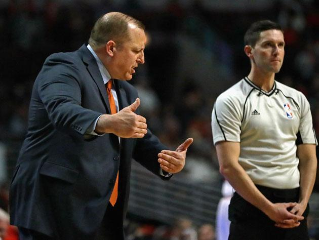 Tom Thibodeau digs in. (Getty Images)