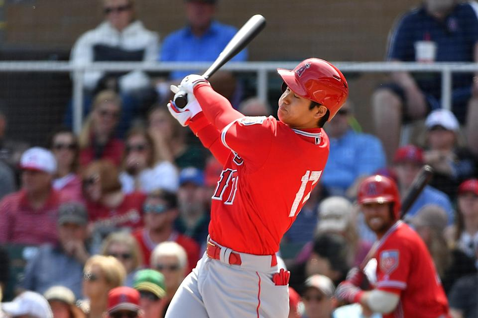 """No, Shohei Ohtani didn't have a """"great"""" final spring training start despite what manager Mike Scioscia said. (Getty)"""