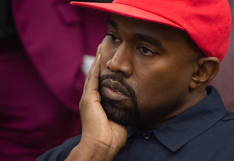 Kanye West meets with US President Donald Trump in the Oval Office of the White House in Washington, DC, October 11, 2018. (Photo by SAUL LOEB / AFP) (Photo credit should read SAUL LOEB/AFP via Getty Images)
