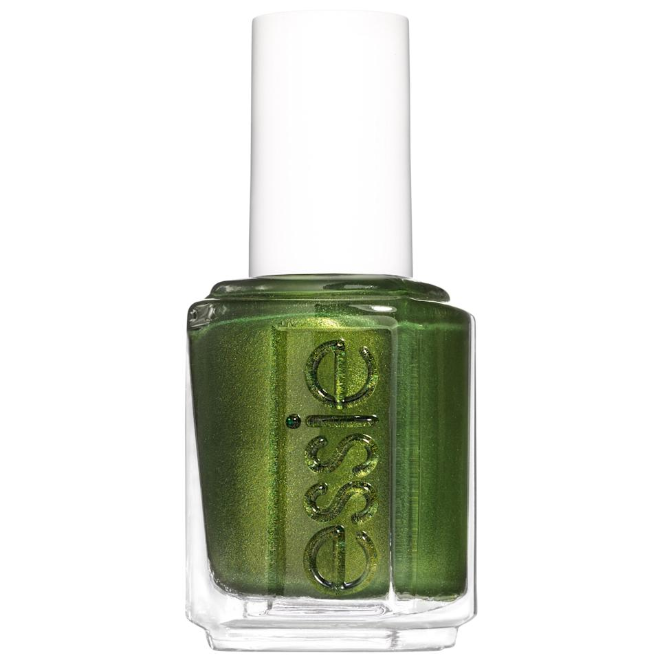 """<p>Green thumb or not, Essie's Nail Polish in Sweater Weather, a deep forest green, is a refreshing switch up from the browns, reds, and burnt oranges of the season. The bold green polish is unexpected and admittedly fierce, with a spike with shimmery swirls that give it a festive touch — one which we'll be wearing well into the holiday season.</p> <p><strong>$10</strong> (<a href=""""https://shop-links.co/1681832820021761634"""" rel=""""nofollow noopener"""" target=""""_blank"""" data-ylk=""""slk:Shop Now"""" class=""""link rapid-noclick-resp"""">Shop Now</a>)</p>"""