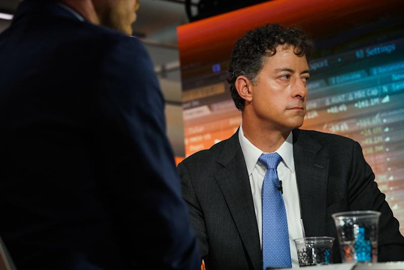 Jeff Smith, chief executive officer of Starboard Value LP, listens during a Bloomberg Television interview in New York, U.S., on Tuesday, Feb. 5, 2019. Smith and Papa John's International CEO Steve Ritchie discussed the $200 million investment from Starboard Value in the pizza chain. Photographer: Christopher Goodney/Bloomberg via Getty Images