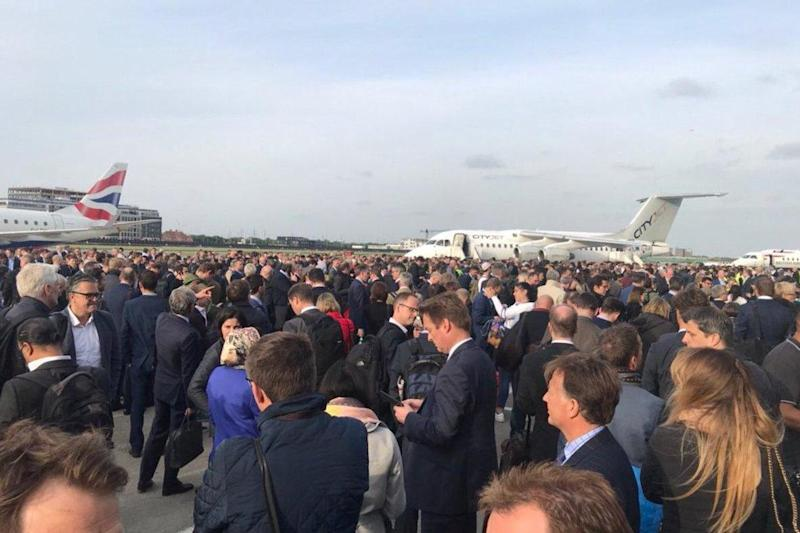Evacuation: Flights were suspended following a fire alarm at the airport: Hans van Houwelingen