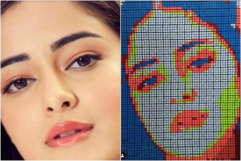 Ananya Panday Shares Her Artwork Rendered in Rubik's Cubes, See Pic