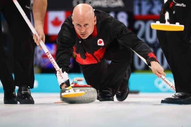 Canada's Kevin Koe competes at the 2018 Pyeongchang Games. Koe is one of four men's skips already guaranteed a spot in November's Canadian Olympic trials. (Dean Mouhtaropoulos/Getty Images - image credit)