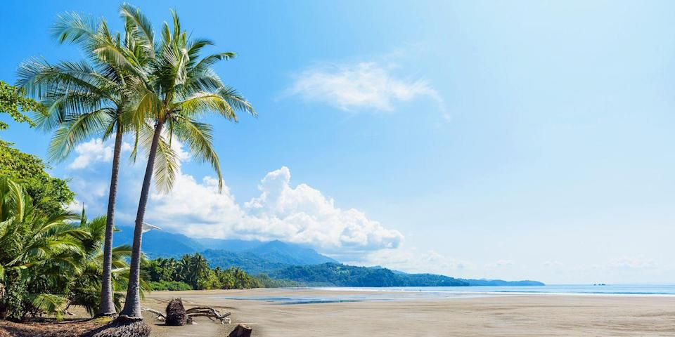 """<p><a href=""""https://www.bestproducts.com/fun-things-to-do/a784/best-costa-rica-vacations-travel/"""" rel=""""nofollow noopener"""" target=""""_blank"""" data-ylk=""""slk:Costa Rica"""" class=""""link rapid-noclick-resp"""">Costa Rica</a> is rich with natural beauty, which can be found in places like the <a href=""""https://www.tripadvisor.com/Attraction_Review-g309269-d2527341-Reviews-Parque_Nacional_Marino_Ballena-Province_of_Puntarenas.html"""" rel=""""nofollow noopener"""" target=""""_blank"""" data-ylk=""""slk:Marino Ballena National Park"""" class=""""link rapid-noclick-resp"""">Marino Ballena National Park</a>. This marine park on the Pacific coast side of the country is known for the famous <a href=""""https://www.tripadvisor.com/ShowUserReviews-g635755-d5996672-r197642898-Uvita_Beach-Uvita_Province_of_Puntarenas.html"""" rel=""""nofollow noopener"""" target=""""_blank"""" data-ylk=""""slk:Whale's Tale"""" class=""""link rapid-noclick-resp"""">Whale's Tale</a> — a sandbar that emerges on Playa Uvita at low tide that actually looks just like a whale's tale. You may even spot a whale in the water (this area has regular sightings!).</p>"""