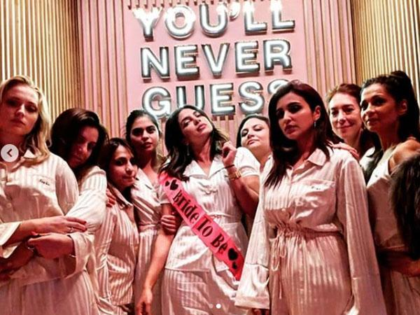Priyanka Chopra shares another new photo from her weekend bachelorette celebration