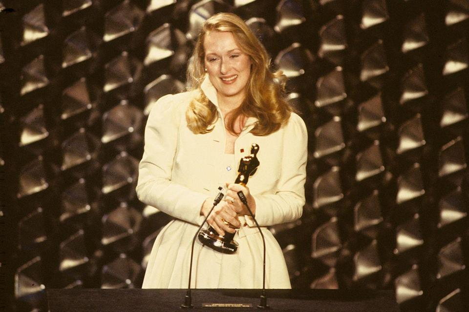 "<p>Meryl Streep beat out Jane Alexander, Barbara Barrie, Candice Bergen, and Mariel Hemingway to nab <a href=""https://www.goodhousekeeping.com/life/entertainment/g3406/things-you-didnt-know-about-meryl-streep/"" rel=""nofollow noopener"" target=""_blank"" data-ylk=""slk:her first Oscar"" class=""link rapid-noclick-resp"">her first Oscar</a> (Best Supporting Actress) for <em><a href=""https://www.amazon.com/Kramer-vs-Meryl-Streep/dp/B005148SXQ/ref=sr_1_1?s=instant-video&ie=UTF8&qid=1547579785&sr=1-1&keywords=Kramer+vs.+Kramer&tag=syn-yahoo-20&ascsubtag=%5Bartid%7C10055.g.5132%5Bsrc%7Cyahoo-us"" rel=""nofollow noopener"" target=""_blank"" data-ylk=""slk:Kramer vs. Kramer"" class=""link rapid-noclick-resp"">Kramer vs. Kramer</a></em>.</p>"
