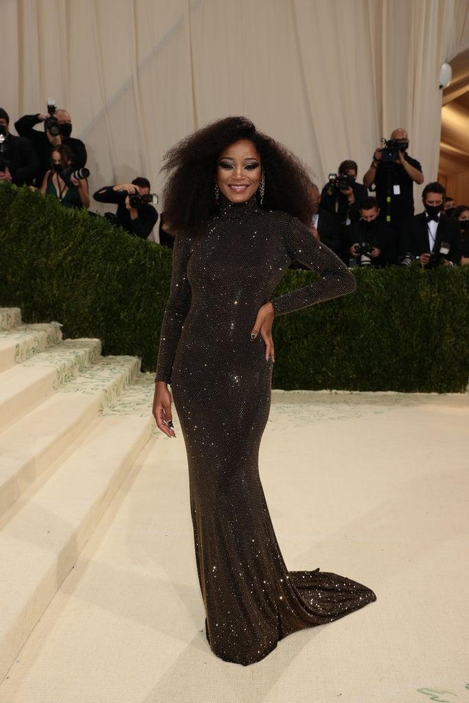 NEW YORK, NEW YORK – SEPTEMBER 13: Keke Palmer attends The 2021 Met Gala Celebrating In America: A Lexicon Of Fashion at Metropolitan Museum of Art on September 13, 2021 in New York City. (Photo by Dimitrios Kambouris/Getty Images for The Met Museum/Vogue )