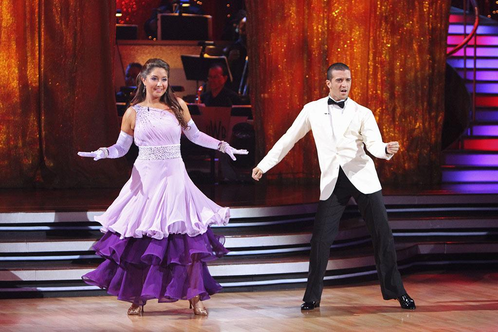 "Week 2: Palin earned one of the highest scores of the week — a 22 — with her quickstep to ""You Can't Hurry Love."" (A little nod to her advocacy work?) Sarah Palin also appeared on the show, attempting a quick shimmy when Bristol brought partner Ballas home to Alaska. Also, another controversy erupted: The <a href=""http://www.thewrap.com/television/column-post/dancing-stars-addresses-palin-boo-ing-incident-21283"" rel=""nofollow"">studio audience booed</a> just before the show cut to Sarah Palin, on hand to watch Bristol compete. But host Tom Bergeron later addressed ""Boo-gate,"" saying the audience was booing not Palin, but the judges — for giving frontrunner Jennifer Grey eights instead of nines. Michael Bolton, meanwhile, was sent home. <a href=""http://www.thewrap.com/television/article/how-bristol-palin-made-it-dancing-finals-22756"" rel=""nofollow"">Source: The Wrap</a>"