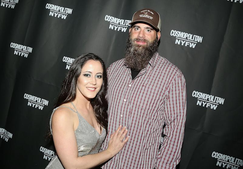 Jenelle Evans poses with David Eason