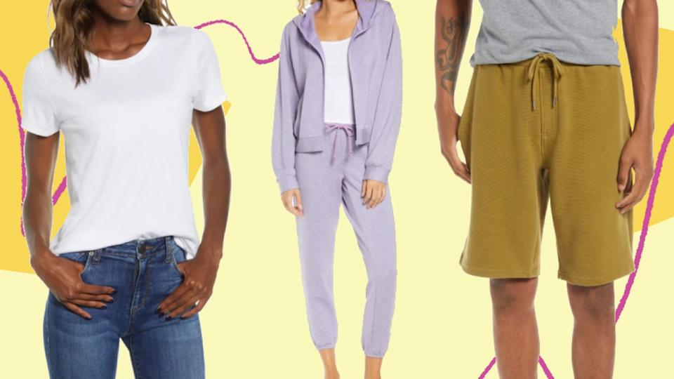 Nordstrom just marked down a bunch of basics, loungewear and cozy knits. (Photo: HuffPost)