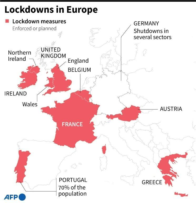 Lockdowns in Europe