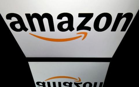 The logo of the online retail giant Amazon is displayed on a tablet  - Credit: Lionel Bonaventure/AFP Getty Images