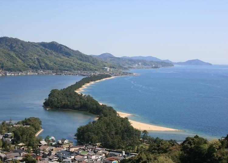 The view from Amanohashidate Viewland