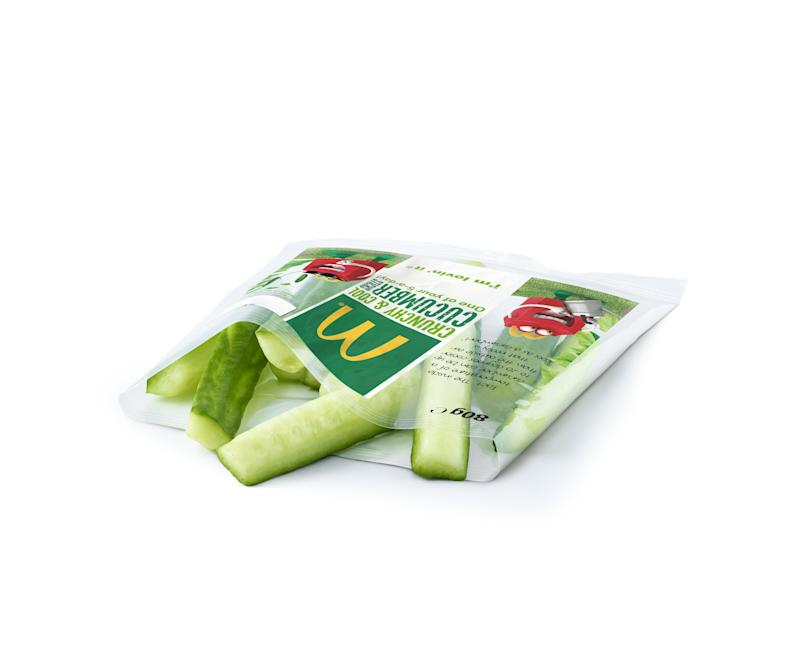 McDonalds is introducing cucumber sticks to its Happy Meal menu [Photo: McDonalds]