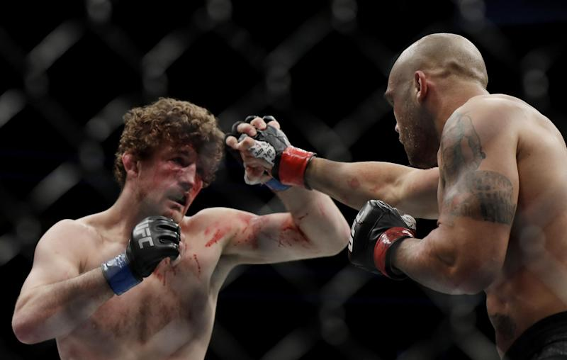 Askren and Lawler went to war at UFC 235. (Getty Images)
